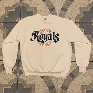 Vintage San Marcos HS Royals Spellout Crewneck XL